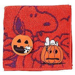 SNOOPY史努比萬聖節派對 小方巾(B款-澄紅色)