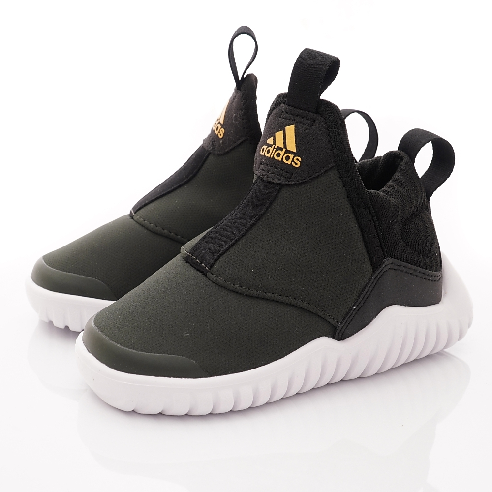 adidas童鞋 彈力襪套學步鞋 EEI8117灰黑(寶寶段)