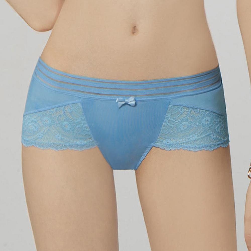 瑪登瑪朵 無比集中 低腰平口內褲(珊瑚藍)