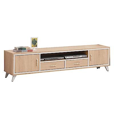 文創集 曼麗時尚6尺木紋電視櫃/視聽櫃-180x40x44cm免組