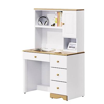 MUNA 克莉絲烤白3尺書桌組  95X54.5X158.5cm