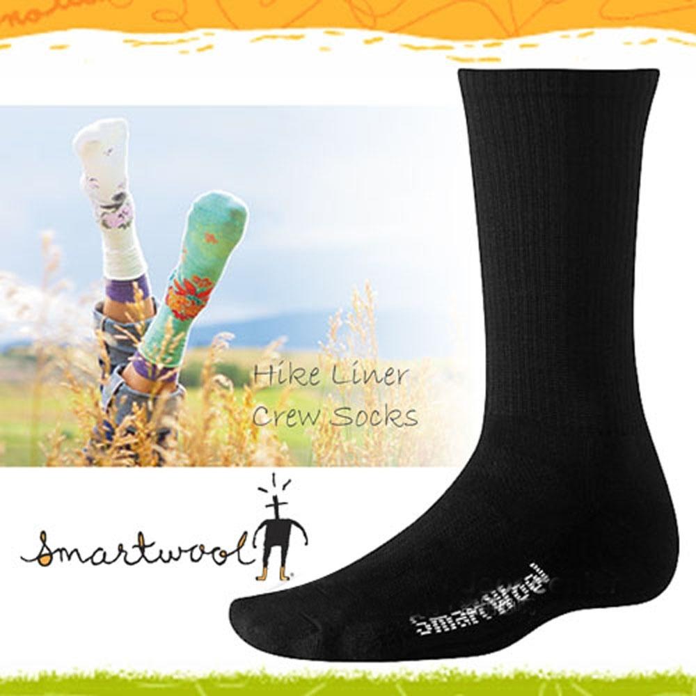 SmartWool 美麗諾羊毛 輕量中高筒登山健行羊毛裡襪(2入)_黑