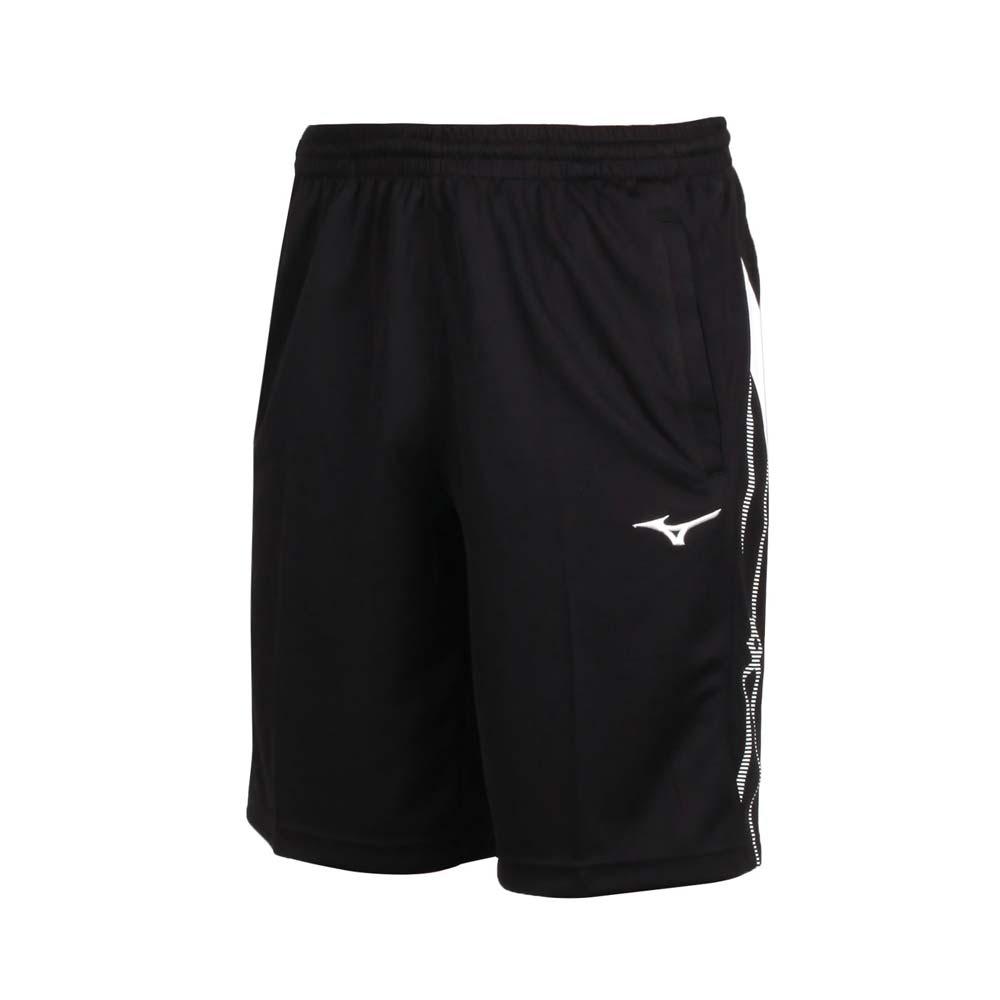 MIZUNO 男針織短褲-慢跑 路跑 美津濃 抗UV 吸汗速乾 五分褲 32TB050290 黑白