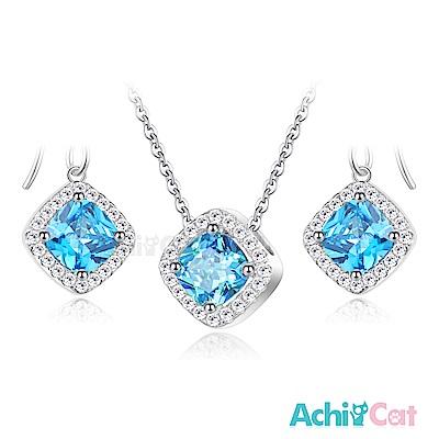 AchiCat 純銀項鍊耳環套組 繽紛世代 女神魅力