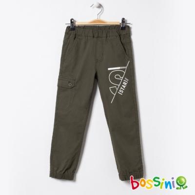 bossini男童-彈性輕鬆束口褲02軍綠色