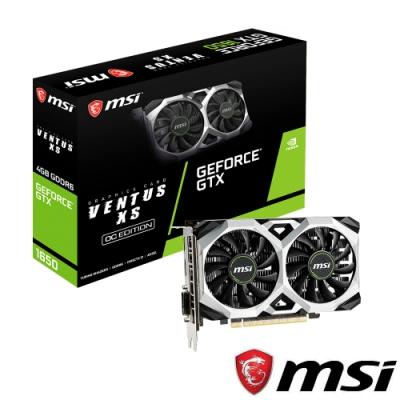 MSI微星 GeForce GTX1650 D6 VENTUS XS OC 顯示卡