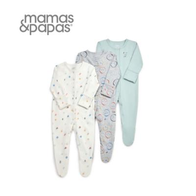 Mamas&Papas 圓臉兒-連身衣3件組