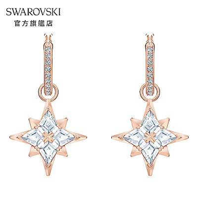 SWAROVSKI 施華洛世奇 Symbol 玫金色耀眼星辰穿孔耳環