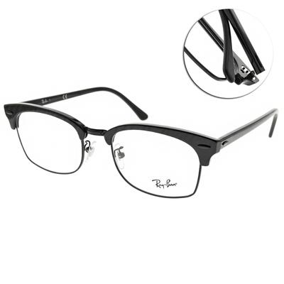 RAY BAN光學眼鏡 經典方眉框款 /波紋黑-黑 #RB3916VF 8049-55mm