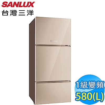 SANLUX台灣三洋 580L 1級變頻3門電冰箱 SR-C580CVG 采晶玻璃鏡面