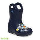 Crocs 卡駱馳 (童鞋) 趣味學院銀河系提把雨靴 205955-410