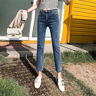 ALLK 窄直筒9分牛仔褲 藍色(尺寸27-31腰)