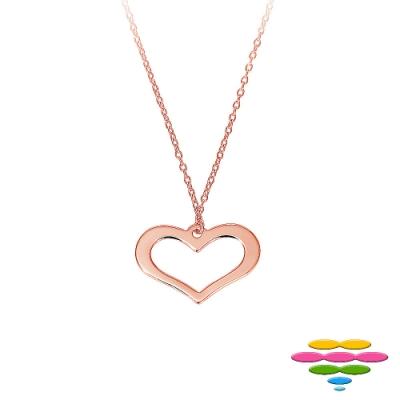 彩糖鑽工坊 愛心項鍊 銀鍍玫瑰金項鍊 桃樂絲 Doris系列