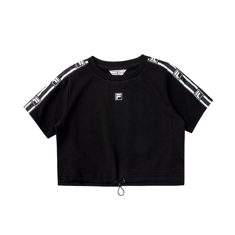FILA #架勢新潮 女短袖圓領T恤-黑色 5TEV-1426-BK