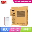 3M 雙效空氣清淨除溼機濾網-Y200-F-1入裝( FD-Y160L/FD-Y200L)