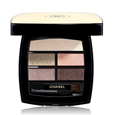 CHANEL香奈兒 時尚裸光立體眼彩盤4.5g+專櫃體驗包隨機x1