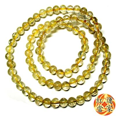 紅運當家 巴西天然清透鈦晶念珠項鍊(約繞手3圈,6mm)