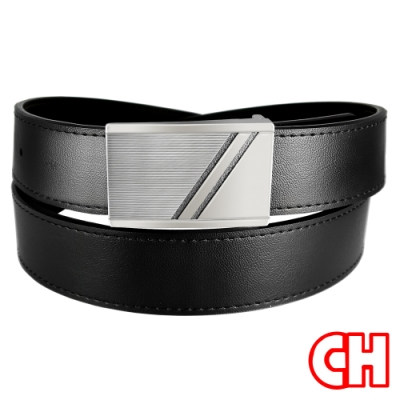 CH-BELT王者風範商務正式休閒紳士扣皮帶腰帶(黑)