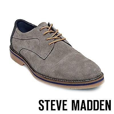STEVE MADDEN-SOLEMN 絨面男士美式拼接式紳士鞋-絨灰