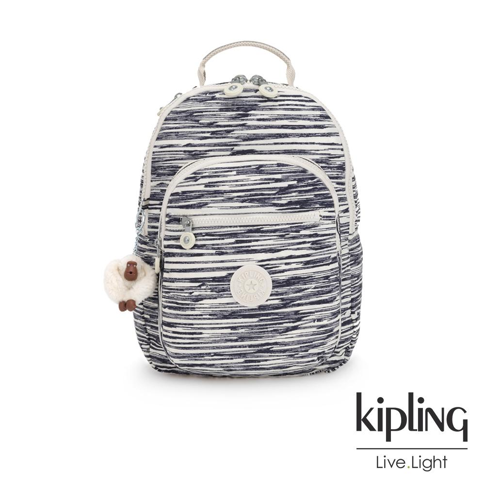 Kipling 線條塗鴉紋機能手提後背包-CLAS SEOUL S