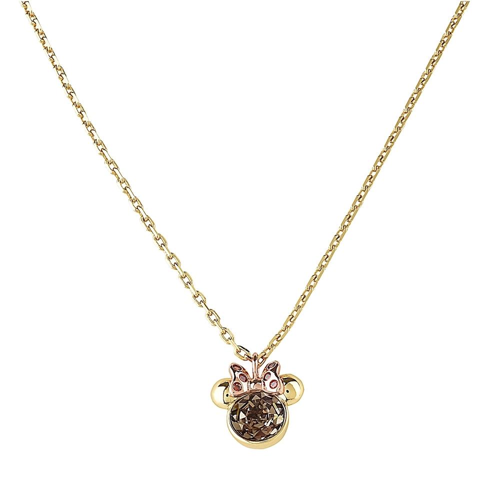 kate Spade x Minnie mouse聯名款米妮設計鑽鑲式項鍊(金)