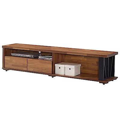 文創集 馬亞米時尚6.1尺木紋電視櫃/視聽櫃-182x40x40cm免組