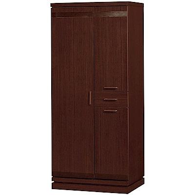 綠活居 康特時尚2.7尺三門單抽高鞋櫃/收納櫃-80.5x40x182cm免組