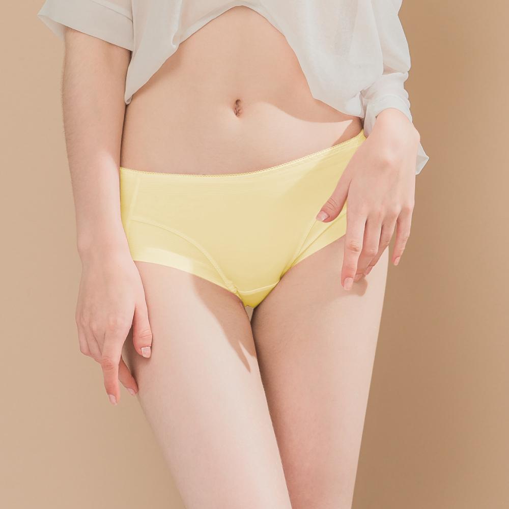 無痕透氣超健康竹炭包臀中腰M-XL內褲 陽光夏日 可蘭霓Clany