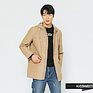 H:CONNECT 韓國品牌 男裝-連帽抽繩休閒外套-卡其