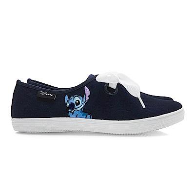 DISNEY 童話樂園 史迪奇電繡綁帶休閒鞋-藍