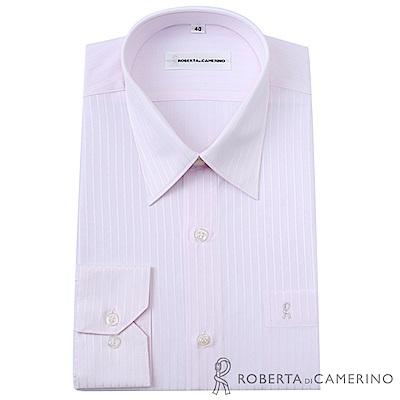 ROBERTA諾貝達 台灣製 嚴選穿搭 細條紋長袖襯衫 淺粉