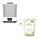 Nuby蒸氣消毒烘乾鍋+nac nac 酵素奶瓶蔬果洗潔慕斯補充包600ML/1包入
