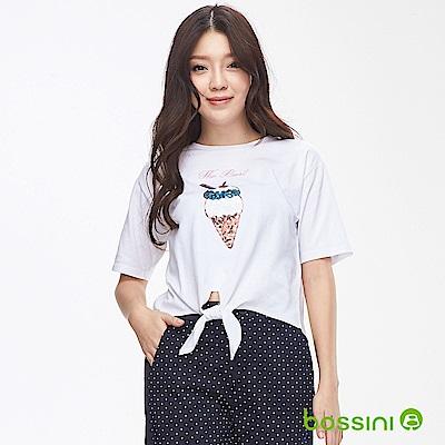 bossini女裝-圓領短袖上衣02白