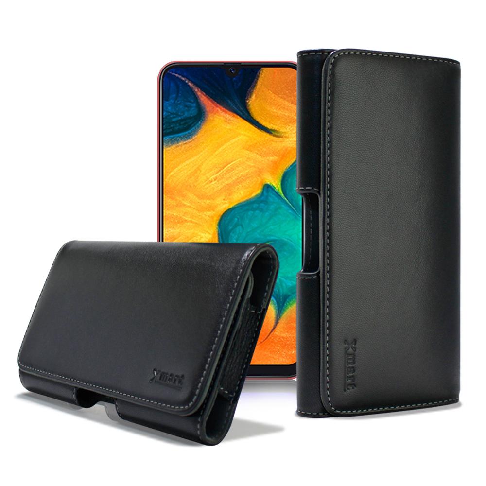 Xmart for Samsung a20 /A30 /A50 型男羊皮橫式腰掛皮套