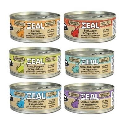 紐西蘭ZEAL真致 純淨無穀主食貓罐 100g 24罐組