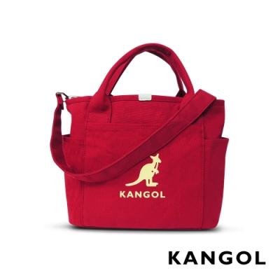 KANGOL 韓版玩色-帆布手提/斜背托特包-棗紅 AKG1216-01
