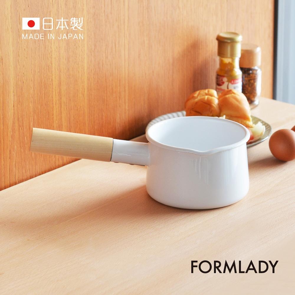 日本FORMLADY 小泉誠 kaico日製原木單柄琺瑯牛奶鍋-920ml