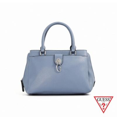 GUESS-女包-簡約字母G手提包-灰藍 原價3490