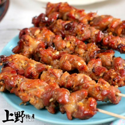 (烤肉任選899)【上野物產】蜜汁梅花燒烤豬肉串(90g±10%/3串/包) x1包