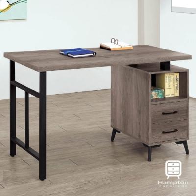 Hampton瑞伊系列古橡木色4尺書桌-120x59.5x81cm