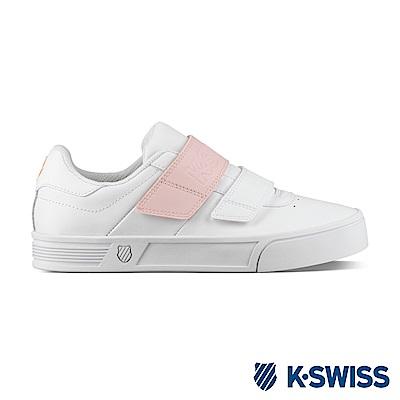 K-SWISS Court Lite Velcro時尚運動鞋-女-白/ 粉紅
