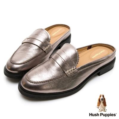 Hush Puppies Bailey 穆勒休閒女鞋-香檳銀