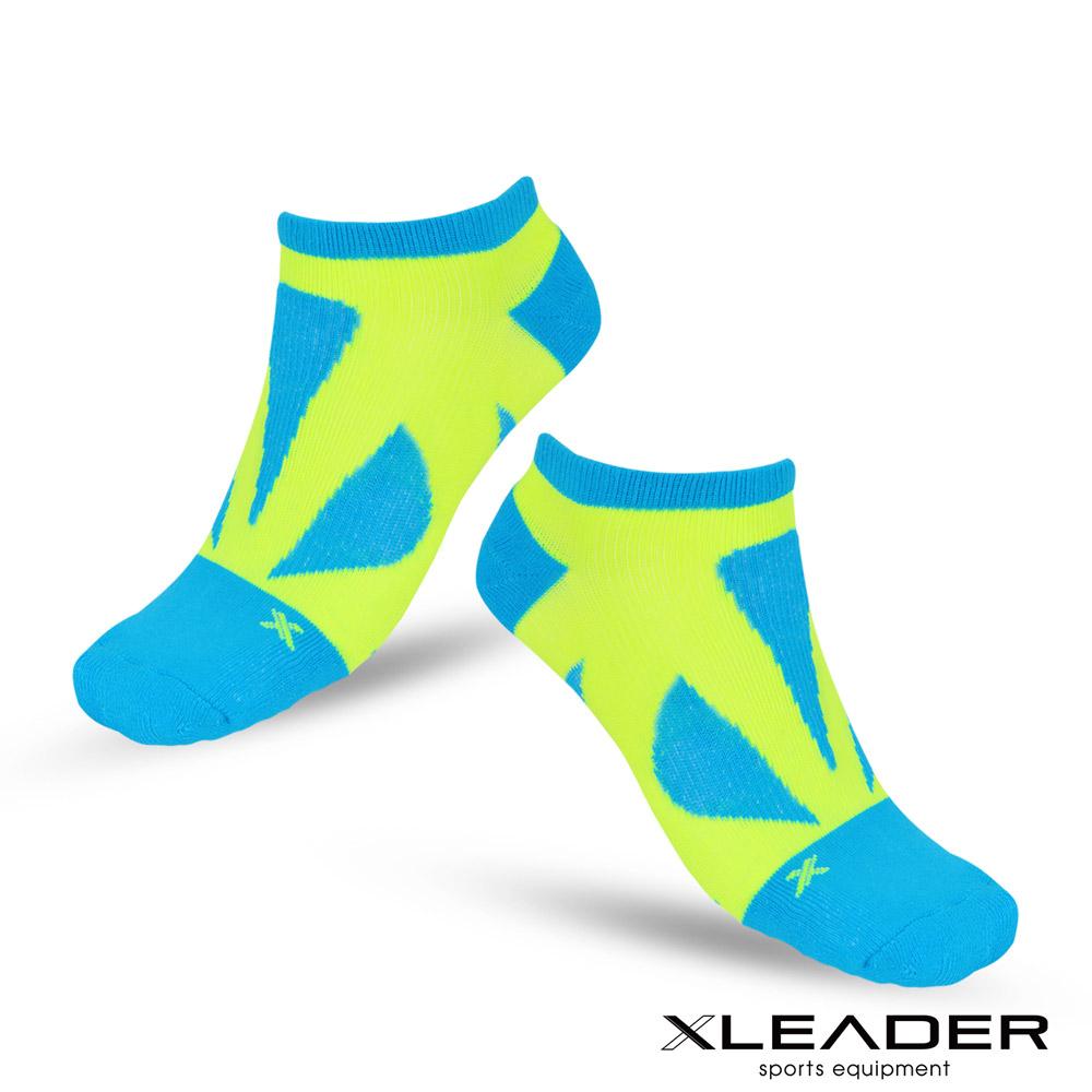 LEADER ST-05 8XU繃帶 加固避震氣墊除臭襪 踝襪 男款 綠黃