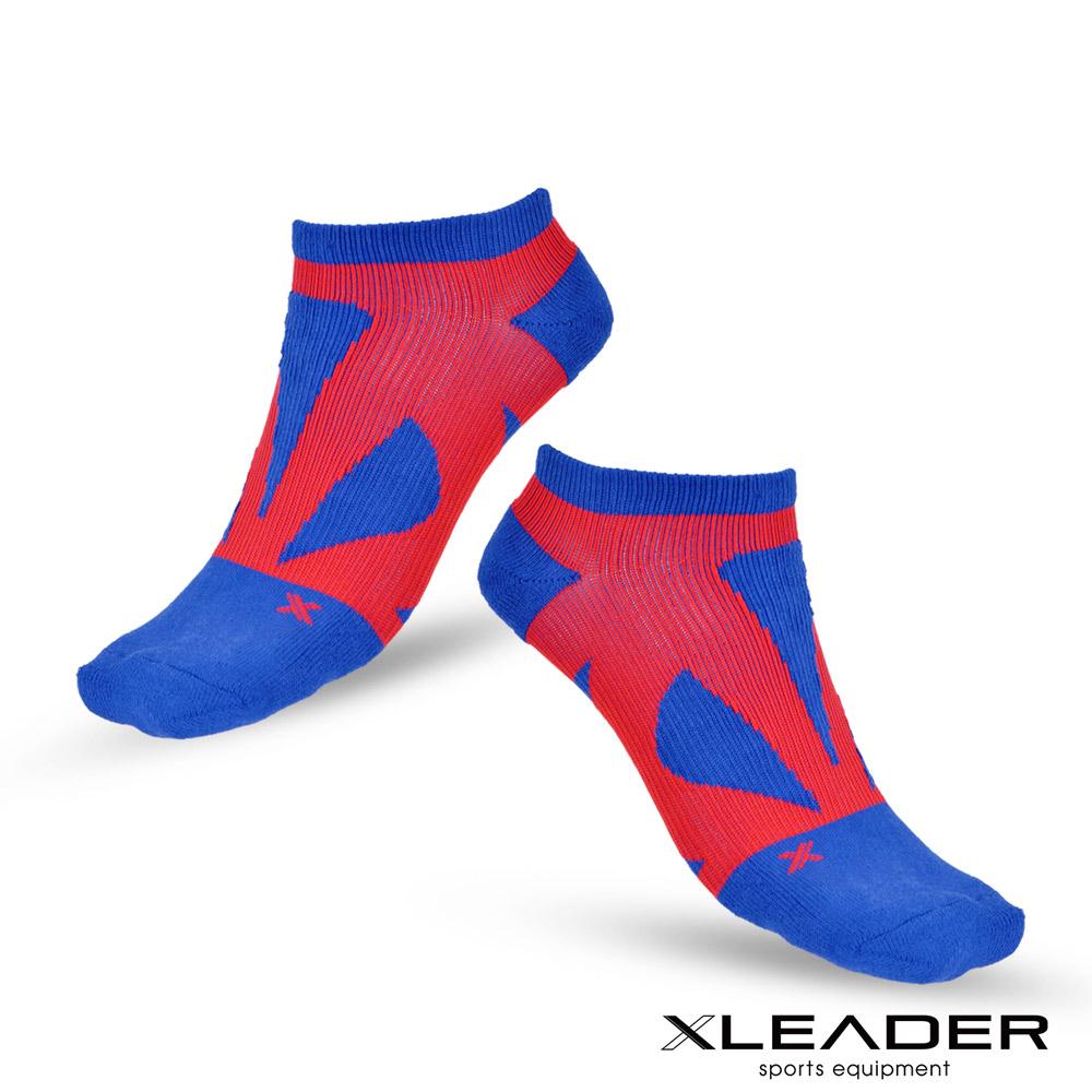 LEADER ST-05 8XU繃帶 加固避震氣墊除臭襪 踝襪 男款 藍紅 - 任