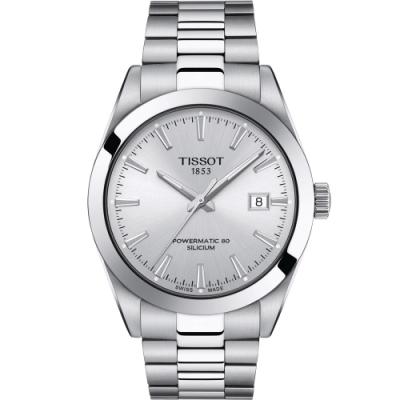 TISSOT GENTLEMAN 紳士的品格機械錶(T1274071103100)