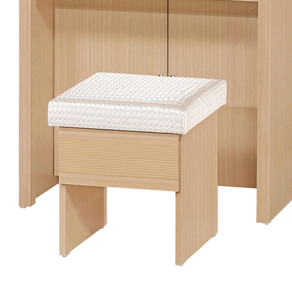 H&D 1三朵花橡木化妝椅