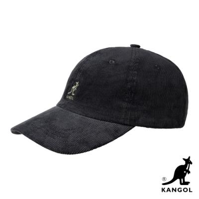 KANGOL-燈芯絨棒球帽-黑色