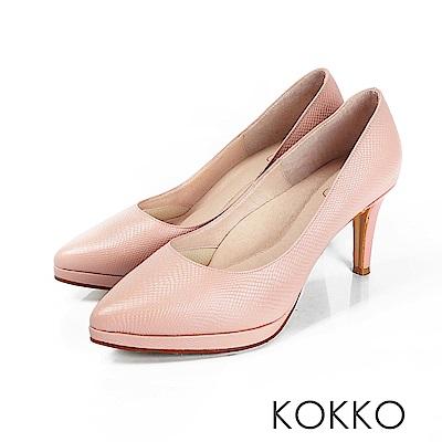 KOKKO - 美麗心計尖頭女王高跟鞋 - 夢幻粉