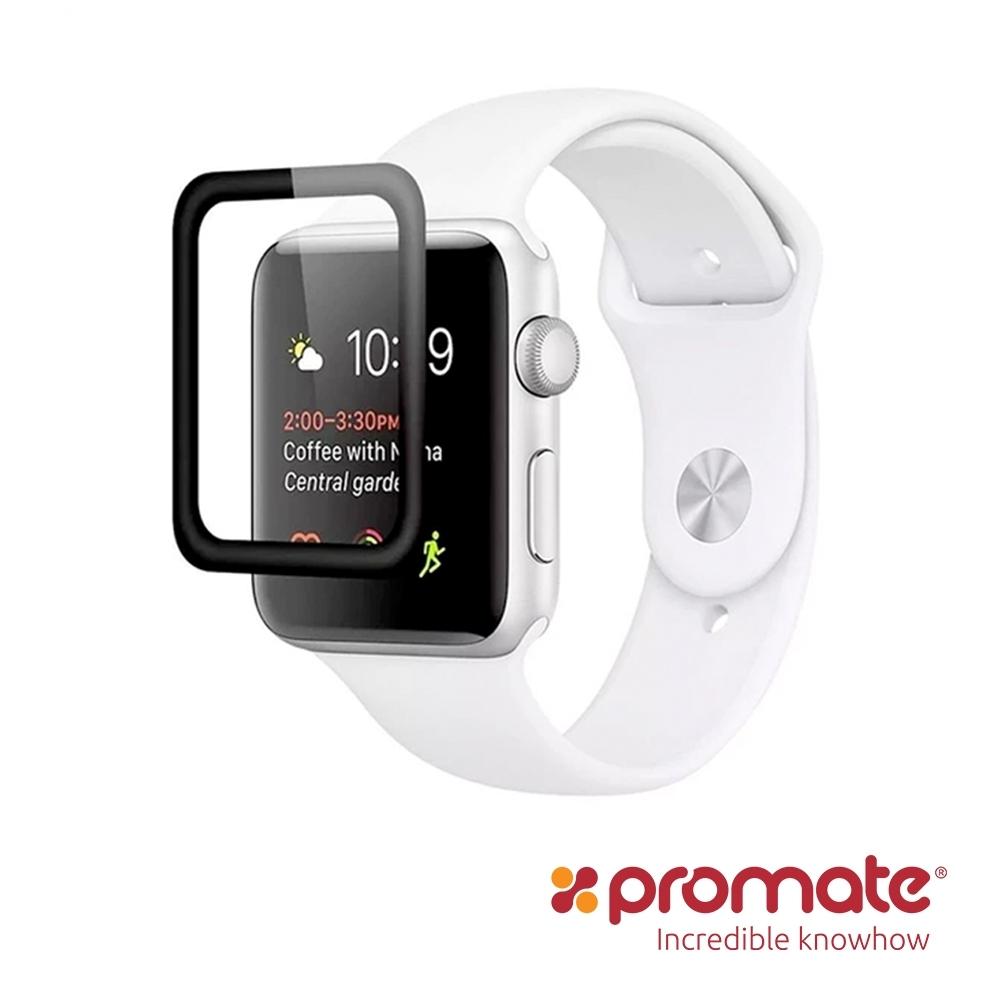 Pormate Apple Watch 42mm 滿版強化玻璃保護貼(Guardio)