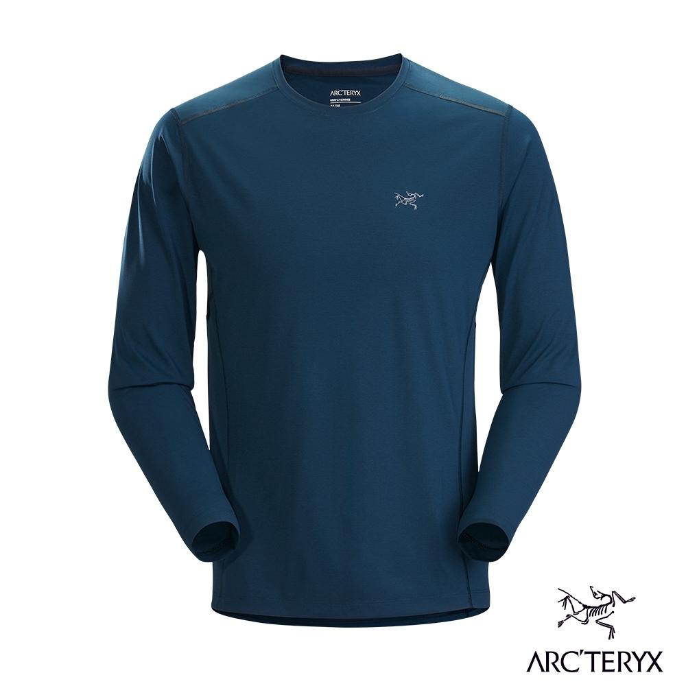 Arcteryx 始祖鳥 男 Motus SL 快乾 長袖 圓領衫 無限藍